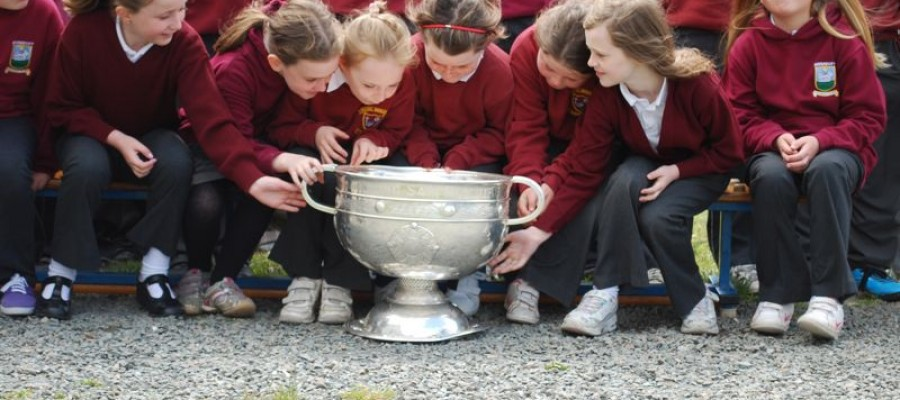 Sam Maguire visit to Annaduff National School